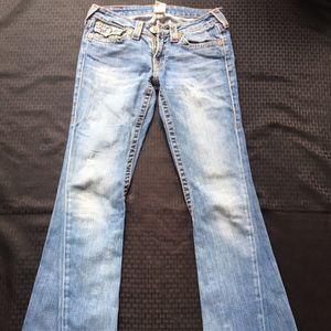 True Religion Bell Bottom Denim Jeans Sz: 28/33